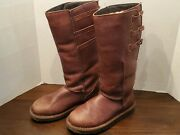 Emu Narooma Brown Leather Sherpa Lined Winter Boots Womens 7 W10141