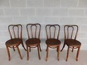 Vintage Ice Cream Parlor Bent Wood Side Chairs - Set Of 4