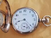 Antique Waltham 14k Solid Gold Full Hunter Pocket Watch 14s Runs Heavy 100g+ 13j