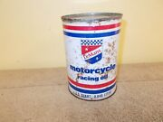Vintage Lemans Motorcycle Racing Oil Can Harley Gas Station Farm Fresh Full
