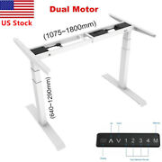Standing Desk Legs Dual Motor Adjustable Height And Width 3 Stages Frame