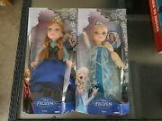 Disney Frozen Princess And Me Anna And Elsa 18 Dolls New In Box Lot Of 2