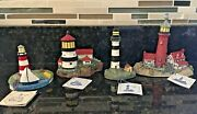 Lot Of Lefton/spoontiques Historic American Lighthouse. Mint