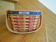 Longaberger Inaugural Basket Set 2001 Patriotic Handy Size Shipping Included
