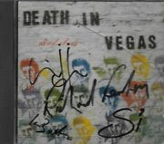 Death In Vegas - Dead Elvis Cd Hand Signed By Richard Fearless, Ian, Si - Rare