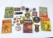 Vintage 80's Cub Scout Boy Scout Badge And Book Lot