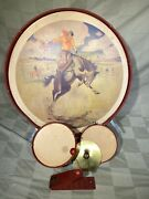 Vintage J. Chein Pro Trap Drumset Child Kids Drum Rare 1950and039s 50s Toy