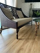 Mcguire Rattan Settee/ Banquettes-barbara Barry Lounge Chair