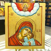 Godfather Mother Of God Orthodox Icon Handpainted Icon Mutter Gottes Ikone