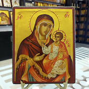 Mother Of God Jerusalem Hand Painted Orthodox Icon Mutter Gottes Ikone