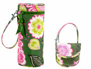 Nwt Vera Bradley Baby Olivia Pink Bottle Caddy And Pacifier Pod Bpa Free
