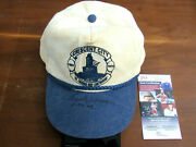 Chuck Yeager Speed Of Sound Ace Pilot Signed Auto Vtg Cresent City Hat Cap Jsa