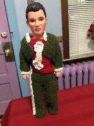 """1996 Fcm Man Doll 15"""" Tall With Crochet Clothes"""