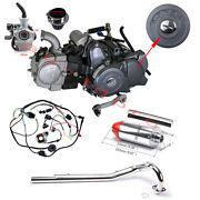 Lifan 125cc Semi Auto Engine Wiring Muffler Pipe Carby Assembly Crf50 70 Xr 50