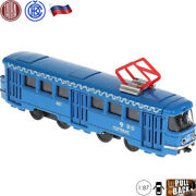 Diecast Metal Toy Moscow City Liner Tram Train Tatra T3su Scale 1/87 6.5 Inches