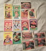 Garbage Pail Kids - 17 Assorted Loose Collection Vintage Collectable Cards