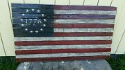 Betsy Ross Wooden American Flag Rustic Pallet Flag 48x 26 American Flag