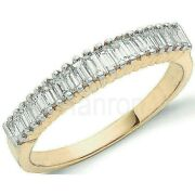 Certificated Baguette Diamond Eternity Ring 18k Yellow Gold 0.50ctw Size R - Z