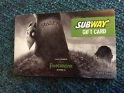 2012 Disney Frankenweenie Movie Subway Gift Card No Value Collectible Sparky