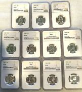 11 Coin Set Of Washington Quarters 1954-1964 Ngc Pf69 The Highest Graded