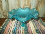 Rare Rossini Blue Footed Glass Candy/dish/bowl Made In Italy, Lovely