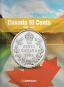 New Album For Collection Of Canada 10 Cent Coins 1858 1952 Lighthouse Vista