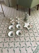 Lot Of 10 Spode Christmas Tree China Mugs Bowls Star Dish Glassware Cannister