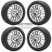 18 Lincoln Mkc Pvd Bright Chrome Wheels Rims And Tires Oem Set 4 2015-2019 1...
