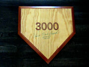 Lou Brock Clark 3023 Hits Hof 1985 Cardinals Cubs Signed Auto Wooden Home Plate