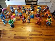 Spiderman And His Amazing Friends Lot 23 Figures And Accessories. + Superman, Batman
