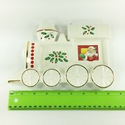 Lenox Santaand039s Holiday Toy Shop Train Spoon Rest Or Wall Plaque Christmas