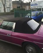 Triumph Stag - Black Soft Top Mohair With Plastic Window