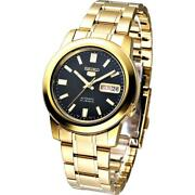 Seiko 5 Snkk22k1 Automatic Gold Tone Stainless Steel Analog Menand039s Watch