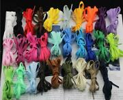 Many Colors Flat Athletic 27 36 45 54 Inch Sneaker Shoelaces Shoe Lace Strings