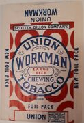 Rare American Detroit Union Workman Chewing Tobacco 3 Ounce Large Foil Pack