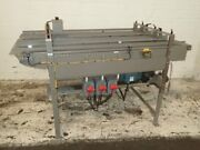 3 Belt Stainless Steel Conveyor 6 Inches X 48 Inches