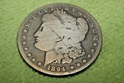 A1545-600,morgan Silver Dollar,key Date 1894 P Very Hard To Find Coin