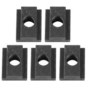 5-pack Of Iron T-slot Nuts For Toyota Tacoma Pick-up Truck Bed Deck Rails Black