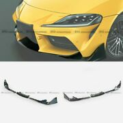 For Toyota 19+ Supra A90 Forged Carbon Look Front Bumper Lip Diffuser Bodykits