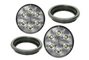 Grote 63821-5x2+91740-2 Trilliant 4 Round White Led Work Light And Grommet