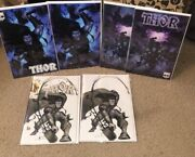 Thor 6 - Variant Cover Lot Of 3 Trade Plus Virgin- 2020 Marvel