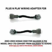 Plug And Play Adapters For 03-05 350z Halogen 6 To 8 Pin Xenon Hid Headlight Z33