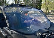 New Can-am Maverick X3 Full Windshield With Clamp Set