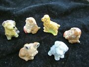 Vintage Wade Whimsies Series 2 Set 1 3 Dogs 2 Kittens 1 Fawn