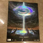 Halo 3 Extremely Rare Embossed Promo Poster Xbox New Condition Master Chief