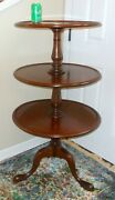 Rare Antique Signed Johnstone New Bond St London England Tier Table Dumbwater