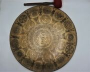 20 Inch Gong Bell Special Hand-carved Gong Bell Home And Living Meditation