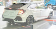 For 2017+ Honda Civic Fk7 Hatchback Sp-style Carbon Rear Roof Spoilers Wings Lip