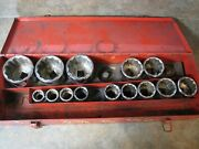Lot Of 14 Stanley 3/4 Drive 12-point Standard Length Sockets 7/8 - 2 3/8