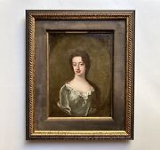 Antique Portrait Young Woman Attributed To Sir Godfrey Kneller 18th C Old Master
